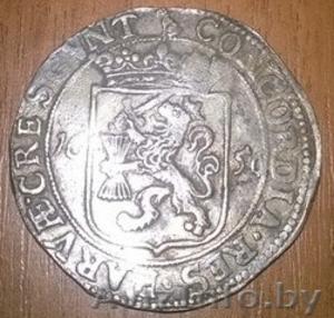 Древний Нидерландский серебряный Риксдаальдер 1656г - Изображение #1, Объявление #1345326