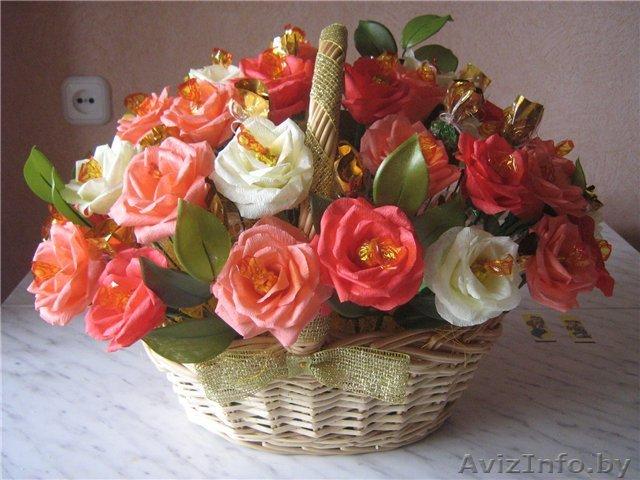 Как сделать корзинку для цветов из конфет своими руками