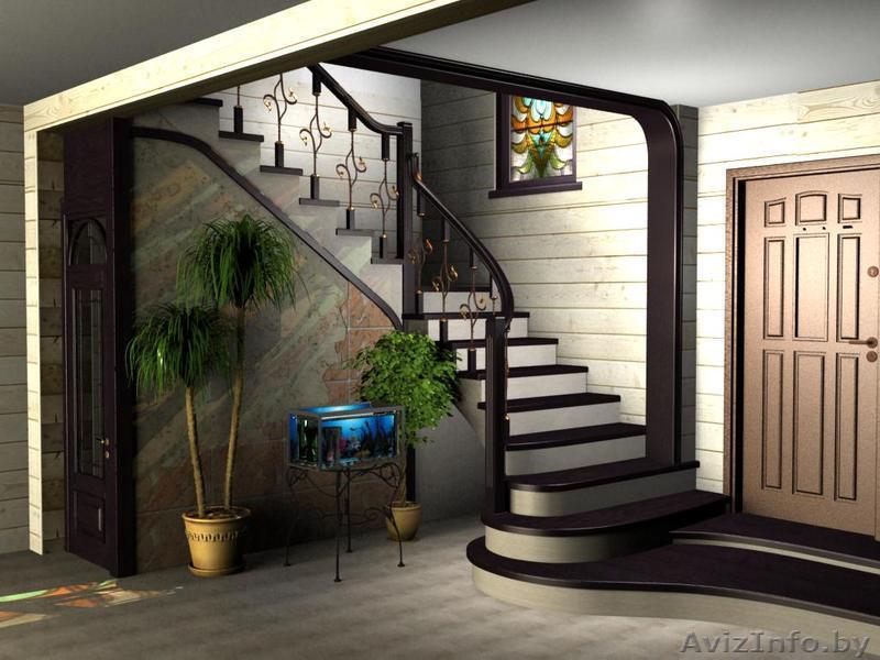 Дизайн лестниц с дверями