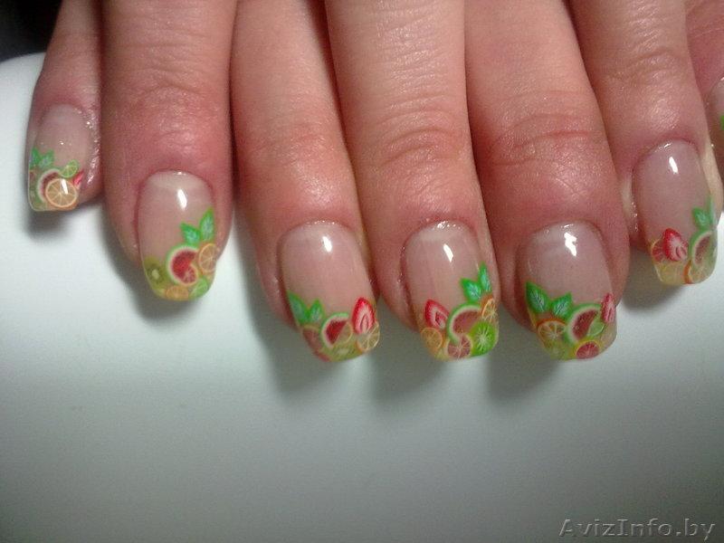 Аквариумный дизайн коротких ногтей