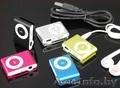 MP3 плеер копия iPod Shuffle в алюминиевом корпусе с клипсой