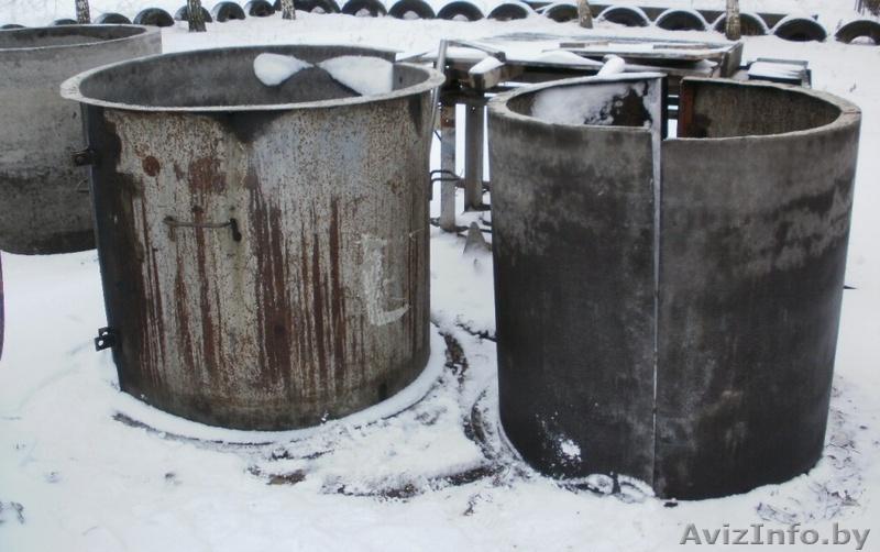 Опалубку для бетонных колец своими руками