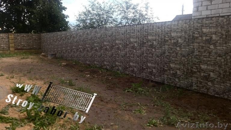 Купить металлопрофильный забор устройство для фундамента ворот откатных
