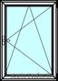 Одностворчатые алюминиевые окна из профиля Алютех серии ALT W72