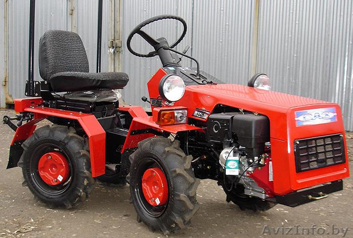 Заводской бензиновый мини трактор