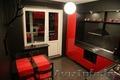Кухня угловая красное с черным