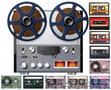 Оцифровка аудио-бобин,  кассет,  пластинок