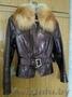 кожаная куртка с мехом лисы 42 размер, Объявление #1588921